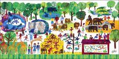 Eric Carle's 123 Zoo Canvas Art