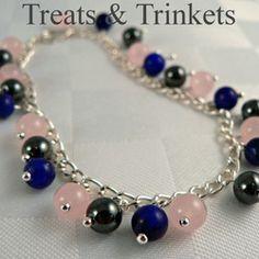 Peace Bracelet - Hematite, Lapis Lazuli & Rose Quartz