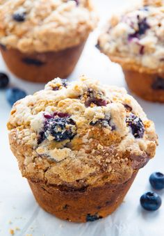 Jumbo Blueberry Crumb Muffins Giant Blueberry Muffins with Streusel Topping. Blueberry Crumb Muffins, Homemade Blueberry Muffins, Blueberry Crumble, Blue Berry Muffins, Muffin Recipes, Baking Recipes, Cookie Recipes, Scone Recipes, Bread Recipes