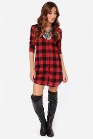 Znalezione obrazy dla zapytania long checkered shirt women's