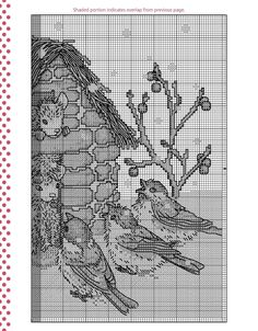 Cross-stitch Winter Caroling, part 3..  color chart on part 1