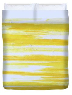 """Sunny Side Up"" Abstract art by Lynn Tolson as a Duvet Cover for bold, bright, cheerful #BedroomDecor #AbundantArts #YellowHomeDecor #YellowBedroomDecor #YellowDuvetColor #YellowBedding #TeenRoomDecor"