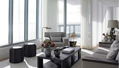 Lovely Living Room with Gray Chair
