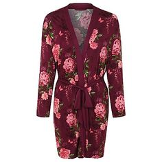 Floral Print Wrap Dressing Gown | Women | George