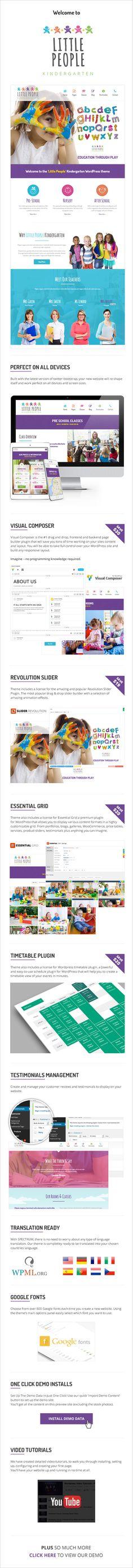 Little People, Kindergarten wordpress theme | ThemeForest