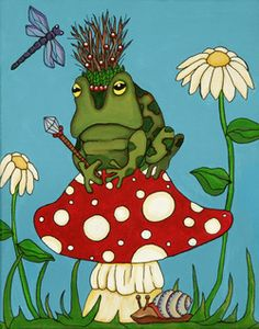 """Frog King"" by Heather Moyer  www.hmartisticcreations.com"