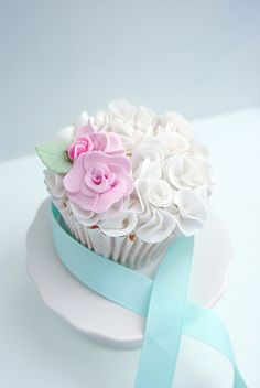 White ruffle cupcake  by Icing Bliss, via Flickr