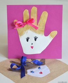 tarjeta de mano para el dia del padre o la madre Diy Mothers Day Gifts, Fathers Day Cards, Grandparents Day, Kids Cards, Cards Diy, Childhood Education, Aluno On, Art For Kids, Crafts For Kids