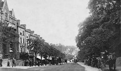 Looking down Mount Pleasant towards the Central Station c1910.