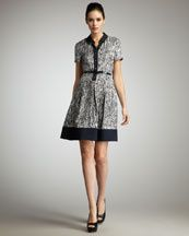 I love this kate spade new york          stefania printed silk shirtdress (via Shop It To Me)