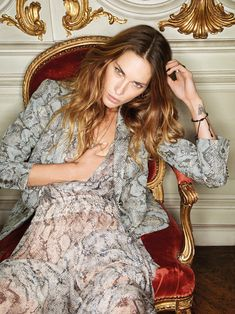 Erin Wasson for Zadig & Voltaire Spring 2012 Campaign by Fred Meylan #snakeskin