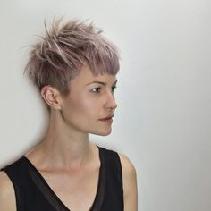 Spiky Bowl Pixie Cut - The Circle Salon's very own Jamie Bushman