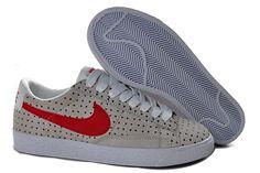 Nike Blazer Low Cool Grey Varsity Red