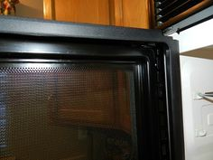 Merveilleux Cleaning Between The Mesh Screen And Glass Door On Microwave