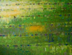 Anna Wolska - Green, 120x100cm, oil