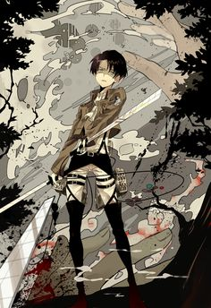 Attack on Titan, Levi Rivaille- outta the way here comes Levi and he's angry