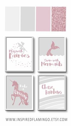 Pink Grey Wall Art Pink Grey Nursery Pink grey decor Bedroom Print Girls room ideas Niece gift ideas Pink and Grey Prints Nursery art Little Girls Room art Bedroom Decor gift Girls Grey Ideas Niece Nursery pink Print prints room Wall Unicorn Bedroom Decor, Grey Bedroom Decor, Kids Bedroom Ideas For Girls, Diy Bedroom Decor For Girls, Mermaid Nursery Decor, Girls Room Wall Decor, Glam Bedroom, Bedroom Sets, Bedroom Furniture
