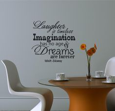 Walt Disney quote stencil wall art home