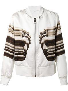 Neil Barrett, Digitally Printed Bomber Jacket (White)