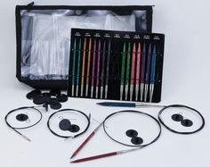 Dreamz Interchangeable Deluxe Knitting Needle Set by Knitter's Pride : Dreamz Interchangeable Deluxe Knitting Needle Set by Knitter's Pride, Knitting Equipment – Halcyon Yarn Knitting Needle Sets, Knitting Blogs, Free Knitting, Knitting Patterns, Knitting Ideas, Sewing Needles, Knitting Needles, Small Gauges, All Stainless Steel