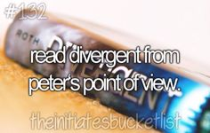 Read Divergent from Peters point of view