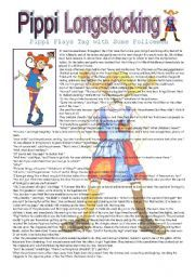 English worksheet: Pippi Longstocking - Pippi Plays Tag with the Policemen