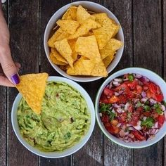 Happy #NationalTortillaChipDay! Do you prefer #Salsa or #Guacamole?  #Nachos #Cheese #Chipsandsalsa #tortillachips