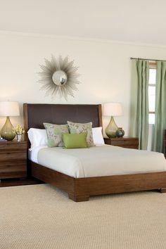 Calm, earthy bedroom