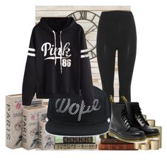 """""""..."""" by tanichka03 on Polyvore featuring adidas Originals, WithChic, Dr. Martens, Loloi Rugs, Home Decorators Collection, ferm LIVING, Pier 1 Imports, blackandwhite and casualoutfit"""