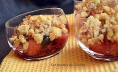 Crumble aux pommes et fruits rouges à la poêle !