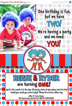 download now free template thing 1 and thing 2 birthday party