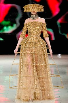 Alexander McQueen. Spring 2013 Ready to Wear. Baroque with a twist. Lady Gaga, we're waiting.