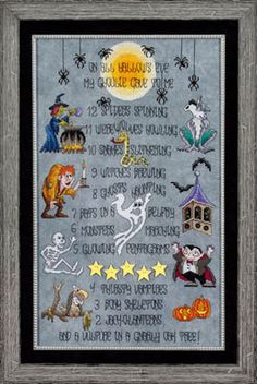 All Hallow's Eve - Cross Stitch Pattern  Must get this one to do for next year!