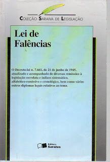 Sebo Felicia Morais: #Lei de Falências- Col. Saraiva de Legislação