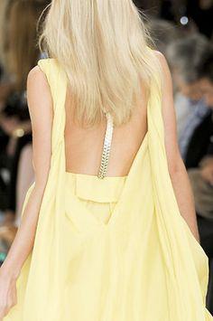 pastel yellow dress