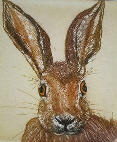 Mad Hare Day - SallyWinterEtchings gravura em metal com água-tinta