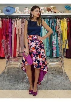 FALDA ASIMÉTRICA RITA Summer Outfits, Floral, Casual, Skirts, Dresses, Photos, Fashion, Women's Feminine Clothes, Girly