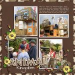 Disney Animal Kingdom page layout by Susan using African Vacation Digital Scrapbooking Kit by Capturing Magical Memories