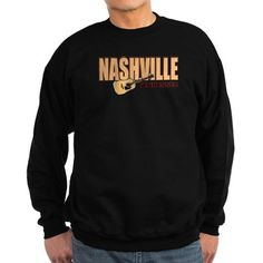 #Nashville Mens Sweatshirt Crewneck Sweatshirt 10.1 oz. patented PrintPro® fabric in a 90/10 cotton/polyester blend by Hanes Standard adult fit Crewneck Collar http://www.cafepress.com/nashville_tshirt_scene.1663095688