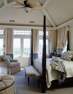 #beige and #blue #bedroom