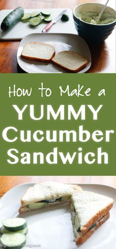 How to make a yummy cucumber sandwich. The perfect vegetarian sandwich / meatless sandwich for a picnic!