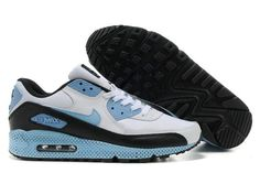 http://www.airgriffeymax.com/nike-air-max-90-white-black-sky-blue-p-298.html Only$74.79 #NIKE AIR MAX 90 WHITE BLACK SKY BLUE #Free #Shipping!