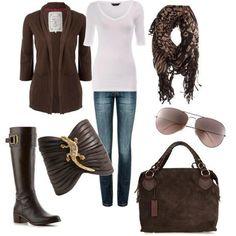 bufanda, jeans, botas...