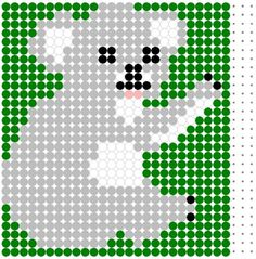 Koala Perler Bead Pattern change to cross stitch