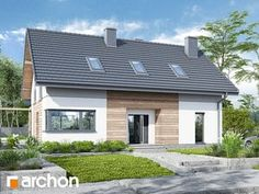 Dom w silene New Home Designs, Home Fashion, Modern Farmhouse, My House, House Plans, Modern Design, Pergola, New Homes, Real Estate