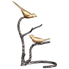 Birds on a Limb Metal Table Decor (€185) ❤ liked on Polyvore featuring home, home decor, decor, gold, bird home decor and metal home decor