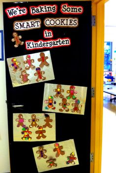 The Kinder-Wife: December in the Classroom... (I know it's January!) Winter Bulletin Boards, Christmas Bulletin Boards, Kindergarten Christmas Bulletin Board, Christmas Classroom Door Decorations, Classroom Decor, December Bulletin Boards, Preschool Bulletin Boards, Classroom Bulletin Boards, Grinch Bulletin Board
