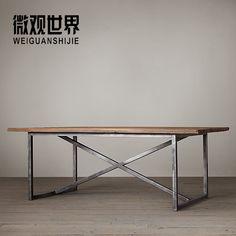 Американский кантри лофт в индустриальном стиле мебель из массива дерева стол стол стол старый кованого железа журнальный столик и бесплатной доставкой