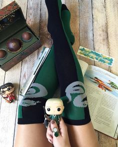 Happy Sock Sunday! I was so excited when my Quidditch Draco Funko arrived this past week that I took the opportunity to show my House Pride I'll take any chance I get to show my love for Slytherin. . Slytherin gets a bad rep but what most people don't realize about us is that we're fierce loyal and ambitious! Sure we have our fair share of bad eggs but so does every House. The difference is we're not afraid to admit it Unless you get on our bad side Slytherins are actually very kind and…