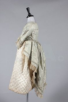 A girl's fancy dress outfit, 1880s but made from